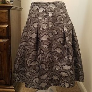 Apostrophe Petite Lined Full Skirt, Silver
